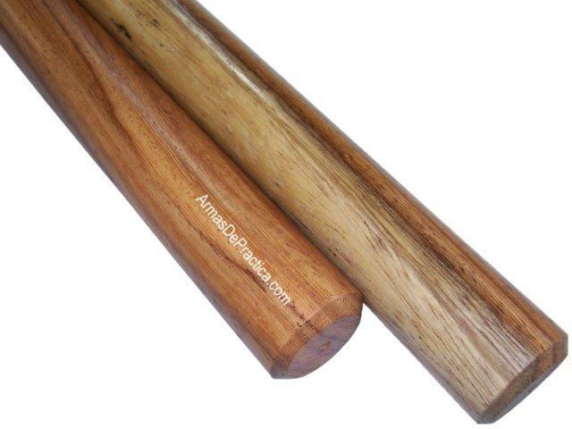 bastones palos filipinos redondos en madera machiche